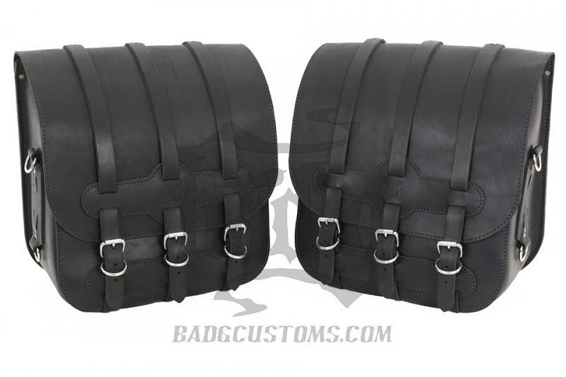 Universal Hard Leather Saddlebags US01